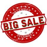 Venda grande dezembro ilustração stock