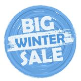 Venda grande do inverno Fotos de Stock Royalty Free