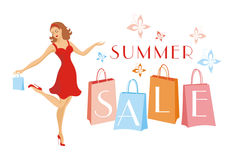 Venda grande do verão Imagens de Stock Royalty Free