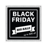 Venda grande na compra preta de sexta-feira na ilustração branca do vetor do fundo Imagem de Stock Royalty Free