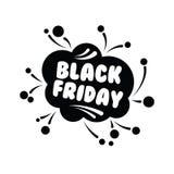 Venda grande na compra preta de sexta-feira na ilustração branca do vetor do fundo Foto de Stock