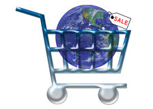 VENDA - Internet WWW do carro de compra ilustração do vetor