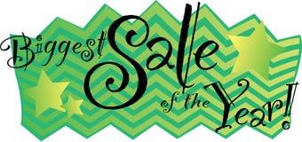 A venda a mais grande do ano! Ilustração Stock