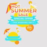 Venda mega bandeira quente do preço da oferta especial do verão da melhor ilustração stock