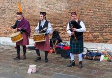 Venda musical escocesa Foto de archivo libre de regalías