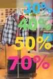 Venda na loja, etiqueta com número de por cento Imagem de Stock