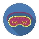 Venda os olhos o ícone no estilo liso isolado no fundo branco Ilustração do vetor do estoque do símbolo do sono e do resto Foto de Stock Royalty Free