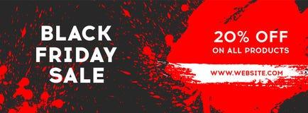 Venda preta de sexta-feira Bandeira preta da Web Venda do cartaz A inscrição original Ilustração do vetor Fotos de Stock Royalty Free