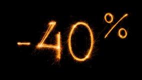 Venda 40 procent fora Foto de Stock Royalty Free
