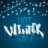 Venda quente do inverno ilustração stock