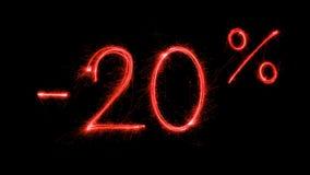 Venda quente 20 procent fora Imagem de Stock Royalty Free