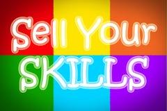 Venda su concepto de las habilidades Imagen de archivo libre de regalías