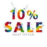 Venda uma MELHOR OFERTA de até 10 por cento Imagem de Stock