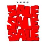 Venda VENDA vermelha do texto 3d Etiquetas da venda Imagens de Stock Royalty Free