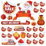 Venda vermelha do Natal ilustração royalty free