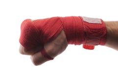 Vendaje del boxeo Imagen de archivo