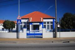 VENDAS新星,葡萄牙- 2017年11月18日:圣诞老人住处Misericor 免版税库存照片