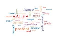 vendas Colagem da ilustração do vetor das palavras Imagem de Stock