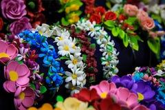Vendas con las flores del foamiran Decoración brillante para el pelo Fotos de archivo