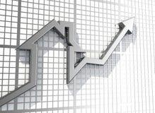 Vendas crescentes dos bens imobiliários Fotos de Stock