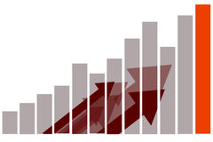 Vendas de mercado do negócio da finança Imagens de Stock Royalty Free