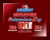 Vendas de nono agosto, dia nacional de Singapura ilustração royalty free