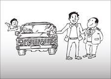 Vendas do carro ilustração do vetor