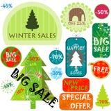Vendas do inverno Imagem de Stock Royalty Free