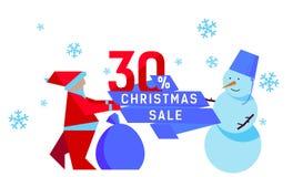 Vendas do Natal Imagem de Stock