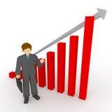 Vendas do negócio acima Fotografia de Stock Royalty Free