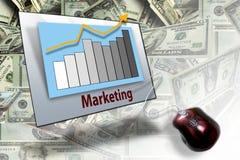 Vendas do negócio do mercado Foto de Stock Royalty Free