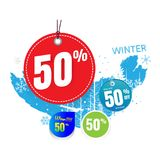 Vendas do vetor e por cento da ilustração No fundo branco proibição Fotos de Stock Royalty Free