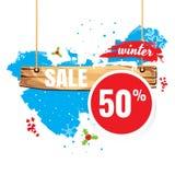 Vendas do vetor e por cento da ilustração No fundo branco proibição Fotografia de Stock