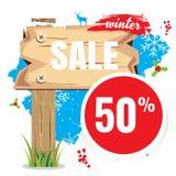 Vendas do vetor e por cento da ilustração No fundo branco proibição Imagens de Stock