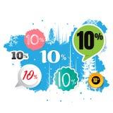 Vendas do vetor e por cento da ilustração No fundo branco proibição Fotos de Stock