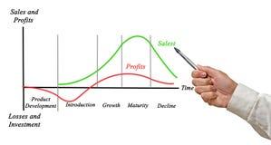 Vendas e lucros foto de stock