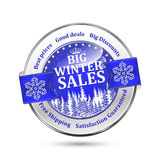Vendas grandes do inverno, os melhores preços, bons negócios, discontos grandes ilustração stock