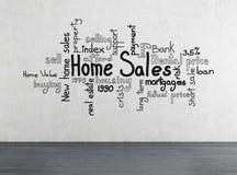 Vendas home Imagem de Stock Royalty Free