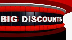 Vendas pretas de sexta-feira com discontos grandes e ofertas especiais ilustração do vetor