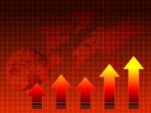 Vendas quentes: gráfico, mapa, globo Foto de Stock