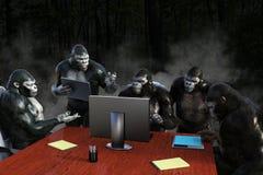 Vendas Team Meeting do negócio engraçado Fotografia de Stock