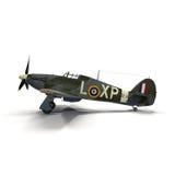Vendedor ambulante británico Hurricane de los aviones de combate en el fondo blanco Fotos de archivo libres de regalías