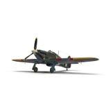 Vendedor ambulante británico Hurricane de los aviones de combate en el fondo blanco imagen de archivo