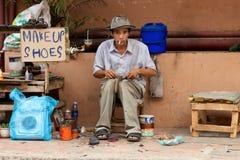 Vendedor ambulante Camboya Fotografía de archivo