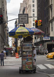 Vendedor ambulante de Nueva York Foto de archivo libre de regalías