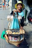 Vendedor ambulante de rua Fotografia de Stock Royalty Free