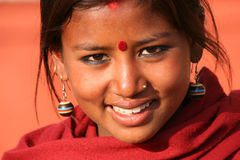 Vendedor ambulante em Kathmandu Fotografia de Stock