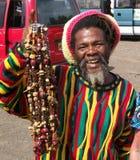 Vendedor ambulante em St Thomas fotografia de stock