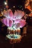 Vendedor ambulante feericamente de Floss da pipoca - Vietnam fotos de stock