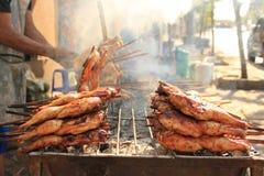 Vendedor ambulante grelhado da galinha Imagem de Stock